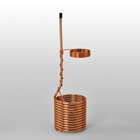 Serpentina em cobre achatado p/refresqueira 11 V.