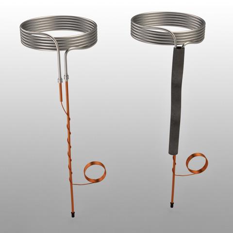 Serpentina em alumínio 5V. linha sucção 400 mm