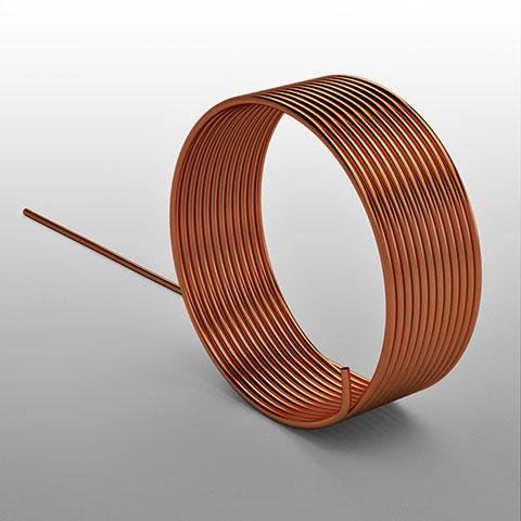 Tubo capilar em cobre para refrigeração